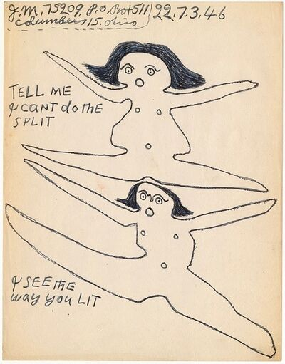 "Joe Massey, '""Tell me I cant do the split,""', 1946"