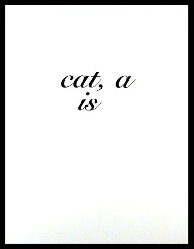 Diana Thater, 'CAT A IS', 1996