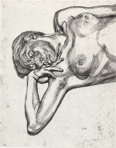 Lucian Freud, 'Head and Shoulders of a Girl', 1990