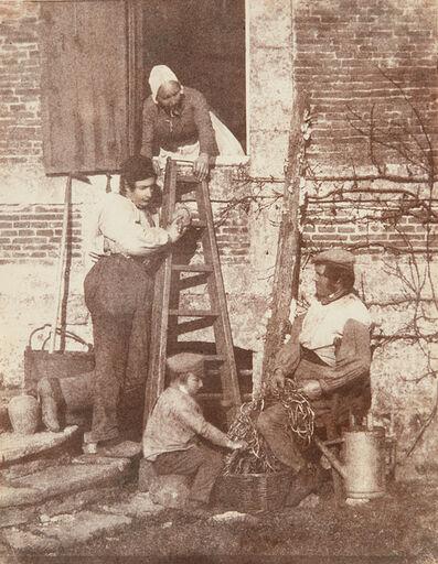 Baron Louis-Adolphe Humbert de Molard, 'Sorting Beans: A Group of Argentelle; Standing, Louis Dodier', 1848