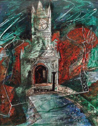 "Sunil Das, 'Travel Dairies Paris II, Mixed Media on Paper by Padma Shree Artist Sunil Das ""In Stock""', 1987"