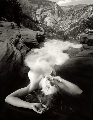 Jerry Uelsmann, 'Untitled (Figure transforming into a waterfall)', 1992