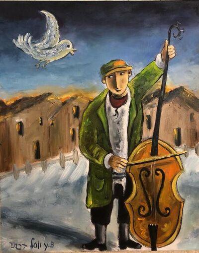 Yosl Bergner, 'Cellist', ca. 1990