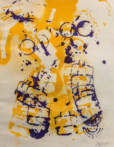 Arman, 'Le masque à gaz, Gas Mask Hand Signed Lithograph Silkscreen', 1970-1979