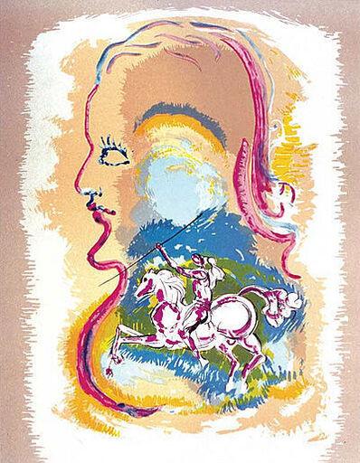 Salvador Dalí, 'Salvador Dali Dream of a Horseman Lithograph on Paper contemporary art', 1980