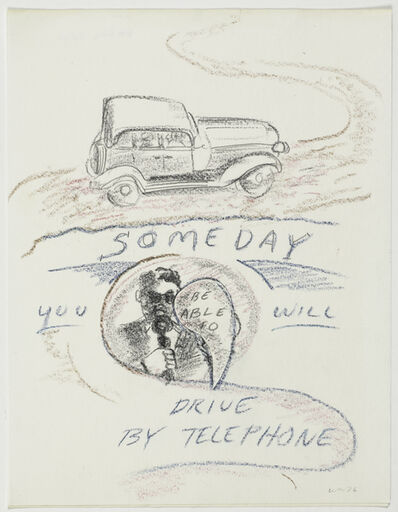William Wegman, 'Someday you will be able to drive by telephone', 1976