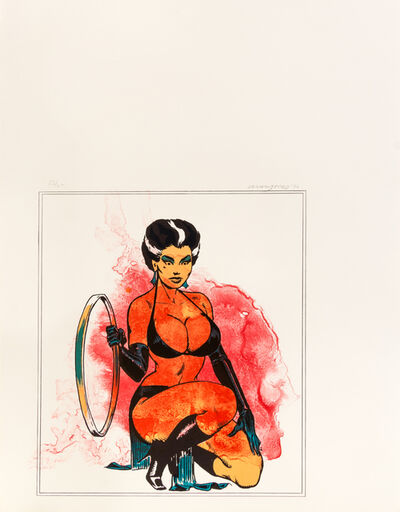 Allen Jones, 'Leg Splash and Kneeling Woman from Europäische Graphik VII (a pair of works)', 1970