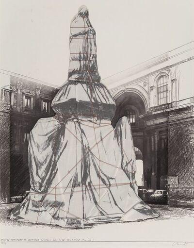 Christo, 'Wrapped Monument to Leonardo (From Project for Piazza della Scala, Milan)', 1971