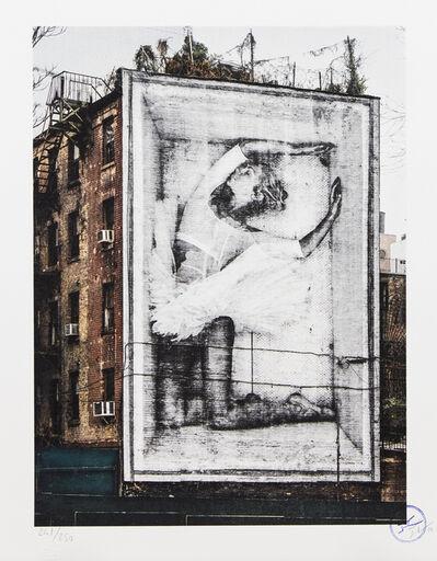 JR, 'Ballet, Ballerina in Crate, East Village, New York City'