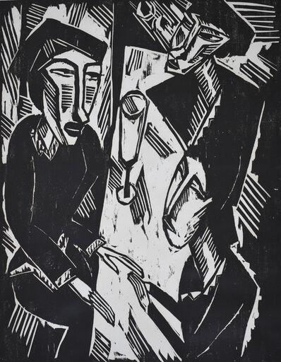 Karl Schmidt-Rottluff, 'Three at the Table | Drei am Tisch', 1914