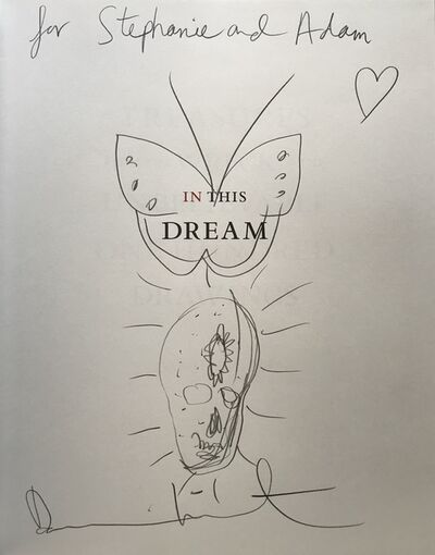 "Damien Hirst, 'Skull & Butterfly drawing in book. SIGNED ""Treasures From The Wreck of the Unbelievable: One Hundred Drawings (Volume II)""', 2017"