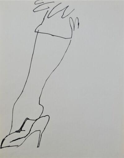 Andy Warhol, 'Shoe and Leg', ca. 1956