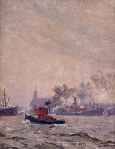 Julius Rehder, 'Hamburg Harbor', ca. 1920
