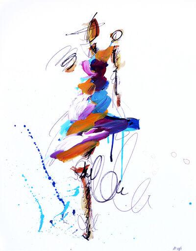 Ash Almonte, 'Purple Orange and White Figure', 2019
