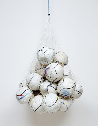 Mark Bradford, 'Soccer Ball Bag 1', 2011