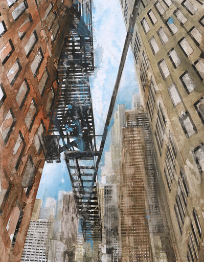 Gottfried Salzmann, 'New York Escalier de secours I', 2016