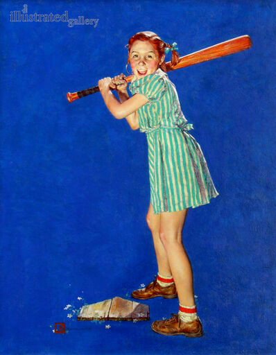 Douglass Crockwell, 'Up at Bat, The Saturday Evening Post Cover', 1940