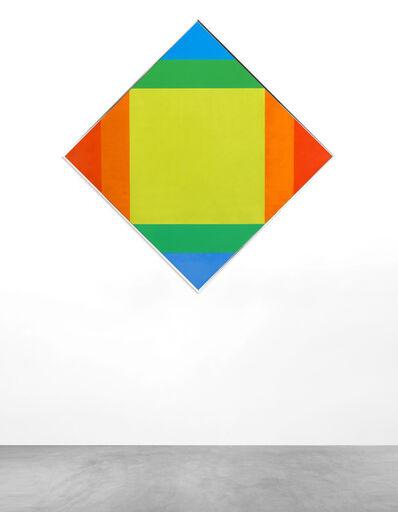 Max Bill, 'Strahlung zu rot und blau', 1972-74