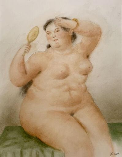 Fernando Botero, 'Woman with mirror', 1990