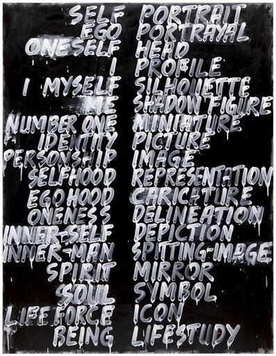 Mel Bochner, 'Self / Portrait', 2013
