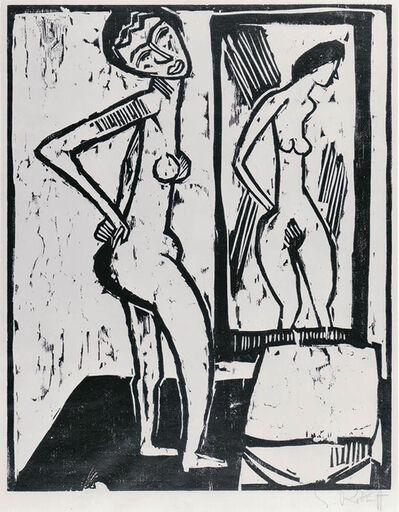 Karl Schmidt-Rottluff, 'Mädchen vor dem Spiegel (Girl before a Mirror)', 1914