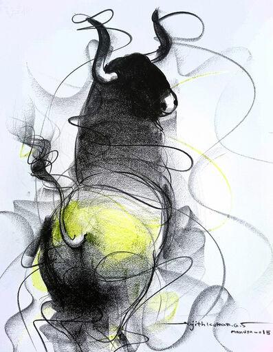 Sujth Kumar G.S. Mandya, 'Bull Drawing -  601', 2015
