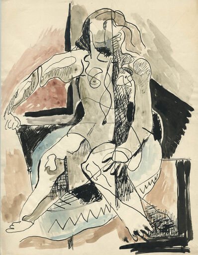R. Leroy Turner, 'Untitled (Woman Seated)', ca. 1930s