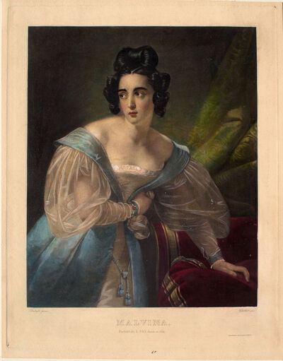 Antoine Joseph Chollet after Claude-Marie Dubufe, 'Malvina (Portrait de L. Fay dans ce rôle)', 1803-1903