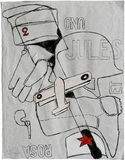 Pierre Buraglio, 'Rosa et/und Jules (7)', 2011
