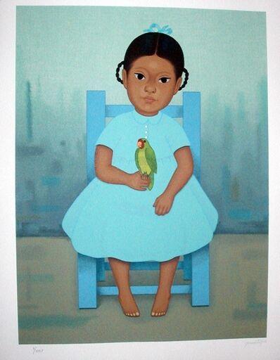 Gustavo Montoya, 'Nina Con Perico ( Girl with Parrot)', 1998