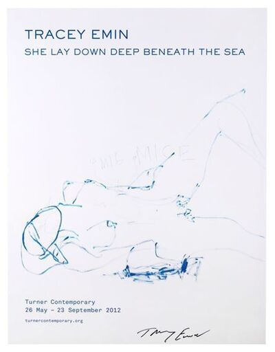 Tracey Emin, 'She Lay Down Deep Beneath The Sea', 2012