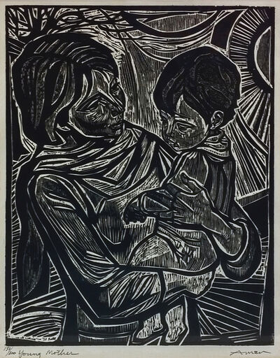 Irving Amen, 'YOUNG MOTHER', ca. 1990
