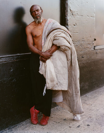Joel Sternfeld, 'A Homeless Man with His Bedding, New York, New York, July 1994', 1994