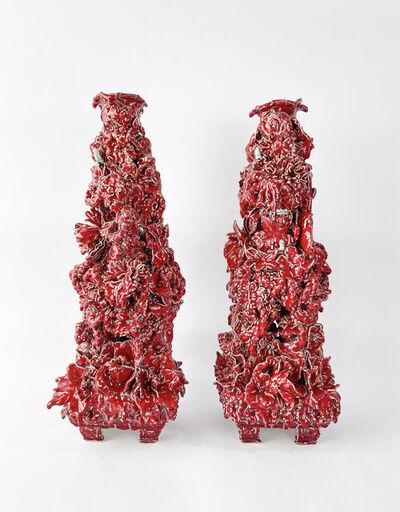 Anthony Sonnenberg, 'Pair of Candelabras (Slender Vermillon) ', 2021