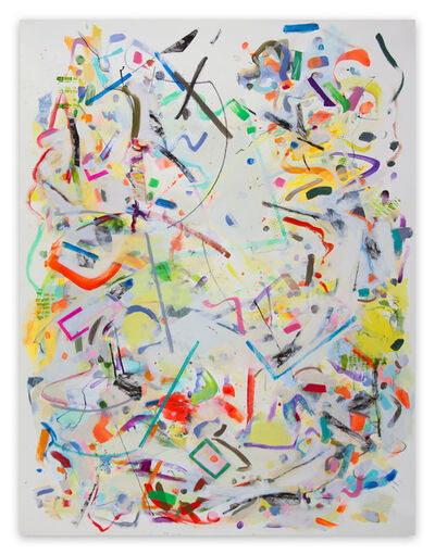 Gina Werfel, 'Angular Improvisation (Abstract Expressionism painting)', 2021