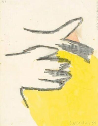 Franz Erhard Walther, 'Werkzeichnung (Mit Moritz und Lehman)', 1969