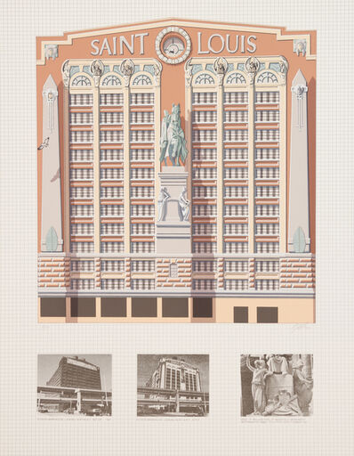 Richard Haas, 'Edison Brothers Stores, Inc., St. Louis (triptych)'