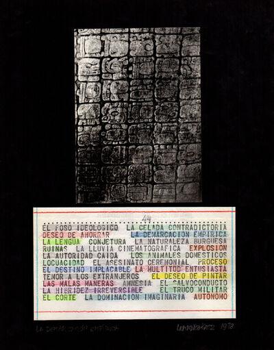 Leandro Katz, 'El Foso Ideológico', 1970
