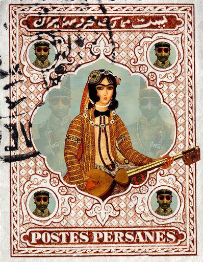 Rabee Baghshani, 'Woman Stamp #2', 2020