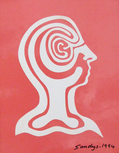 Edwina Sandys, 'Labyrinth Woman (Pink Profile)', 1994