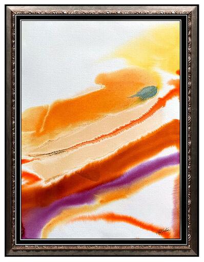 Paul Jenkins, 'PAUL JENKINS Large Original Watercolor Painting Signed Phenomena Abstract Art', 1979