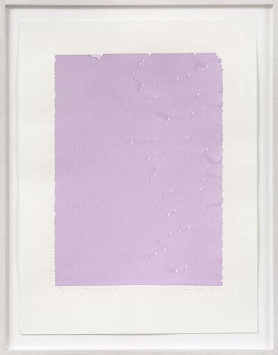 Irma Blank, 'Radical Writings, Pagina, Dal libro totale AX-21', 1985
