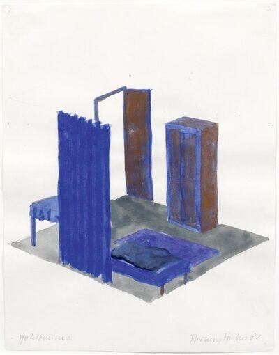 Thomas Huber, '2 Sheets: Hotelzimmer', 1981