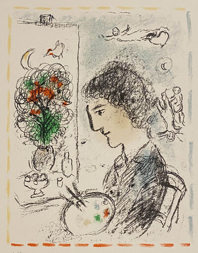 Marc Chagall, 'Le Chevalet Fleuri', 1984