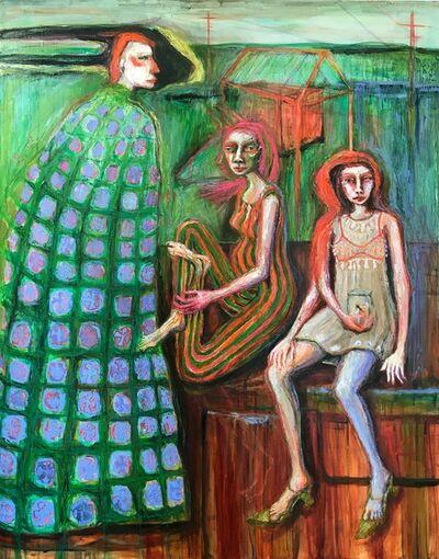 Rebecca Swainston, 'On top of the train; La Bestia', 2020