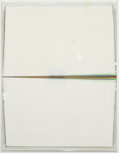 Christoph Schellberg, 'Light painting with horizontal folding, white square and shadow', 2014