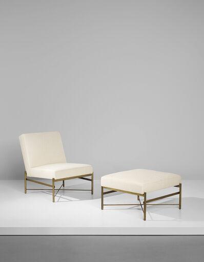 Ignazio Gardella, 'Rare lounge chair and ottoman', circa 1941
