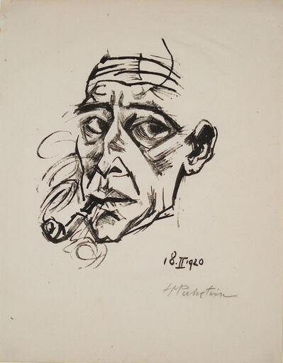 Max Pechstein, 'Selbstportrait (self portrait)', 1920