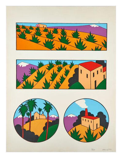 Ken Price, 'Four Images of New Mexico', 1977