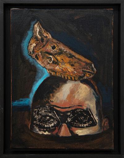 Damien Deroubaix, 'Melancholia IV (tête de cheval, grotte du Mas d'Azil)', 2019
